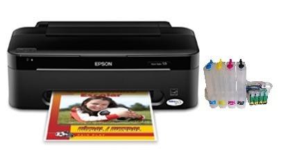Impressora Epson Stylus T25 e Bulk Ink Instalado e 400 Ml de Tinta