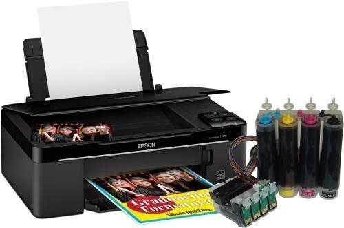 MultIfuncional Epson Tx125 + Bulk Ink Instalado + 400ml de tinta - Impressora, Scanner, Copiadora