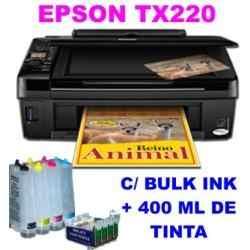 Multifuncional Epson Stylus Tx220 e Bulk Ink Instalado e 400Ml Tinta Lcd de 1,5