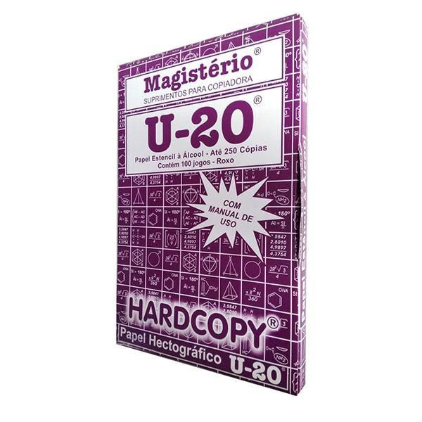 Papel Hectográfico Estêncil Roxo Hardcopy Tatoo Magistério U20 100 Unid Matriz 22x33cm