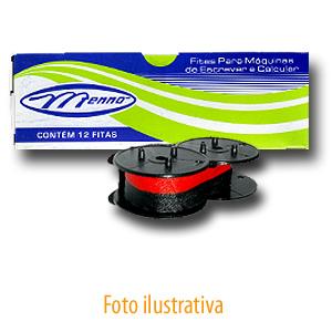 Fita Nylon Máq Calcular Sharp Seiko Facit C.Itoh Ncr Preto/Vermelho Pvf Menno Gráfica