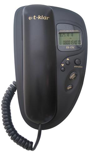 Telefone com Fio T-Klar Tk-Tic Preto Design Moderno Teclado Luminoso e Identificador Outlet
