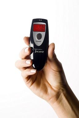 Bafômetro Digital Tocave Slim Preto Display Cristal Líquido Iluminado Alerta Sonoro