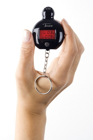 Mini-Bafômetro Digital Tocave chaveiro Preto