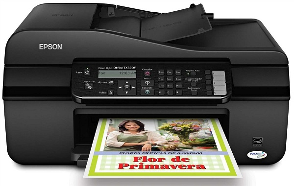 Multifuncional Epson Stylus Tx320F Jato de Tinta 4 Cores Fax e Bulk Ink e 400Ml de Tinta