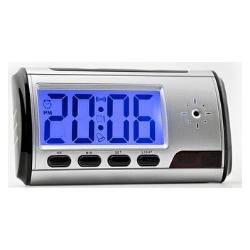 Relógio e Despertador Espião com Detector de Movimento Digital Worldcam