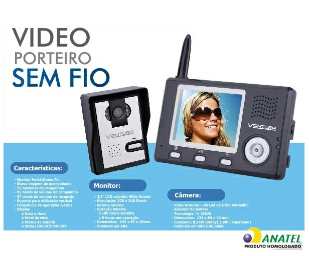 Vídeo Porteiro Wireless - WorldCam