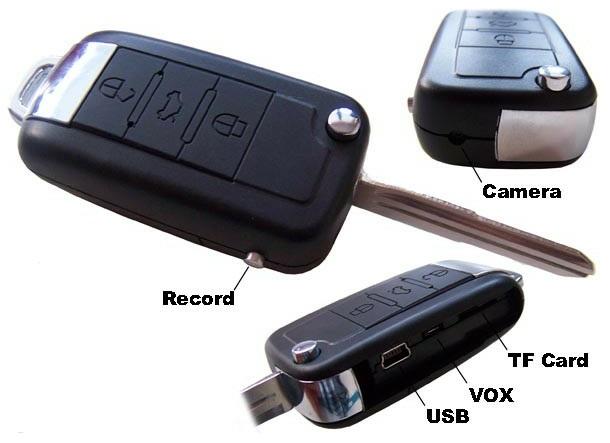 Chaveiro Espião com Chave Embutida Worldcam