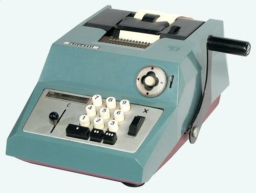 Calculadora Olivetti Summa Prima 20 Mecânica Antiga Fabricação Década de 60 Reformada com Garantia