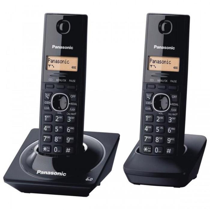Telefone sem fio Panasonic DECT 6.0 - KX-TG1712LBB Combo telefone + ramal, identificador de chamadas