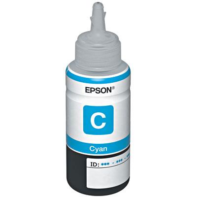 Garrafa de Tinta Ciano Epson Original T664220 L110 L200 L210 L355 L555
