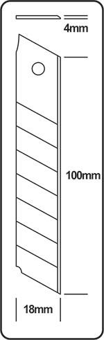 Estilete Cavia ACU035 18mm Unidade