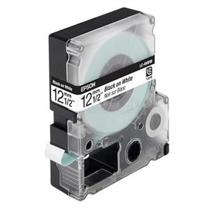 Fita Rotulador Epson Lk-4Wbn 12mm Preto no Branco