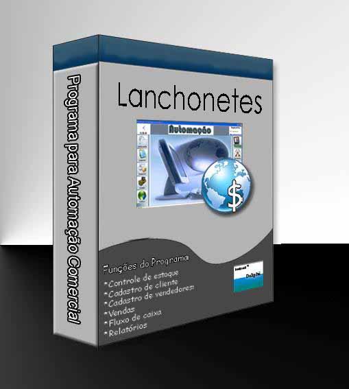 Combo para Automação Comercial Não Fiscal: Programa para Lanchonete + Leitor de Código de Barras + Impressora Matricial + Gaveteiro