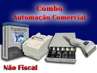 Combo Automação Com ñ Fiscal Papelaria e Leitor Código Barras e Impr.Matricial e Gaveteiro