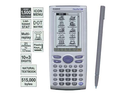Calculadora Gráfica e Financeira Casio Classpad330-C-Dh Touch Screen
