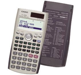 Calculadora Financeira Casio FC-200V-WB-DH juros, bonus, investimentos