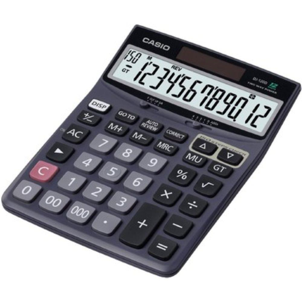 Calculadora de Mesa Casio Dj-120D Memória,Solar e Bateria
