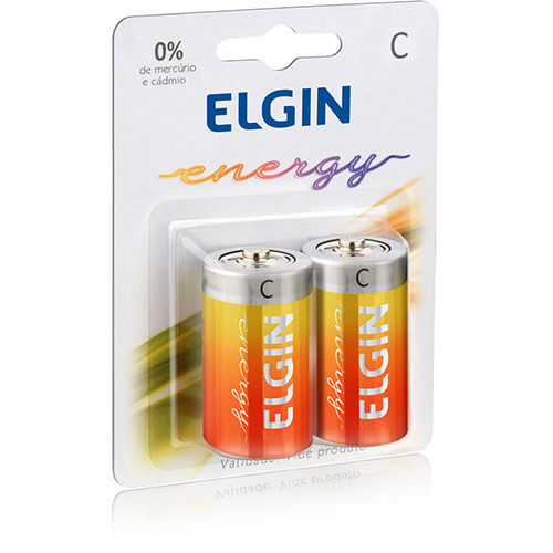 Pilha Elgin C Zinco-Carvão - c/2 unidades cod. 82187