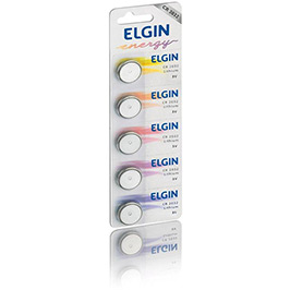 Bateria de Lithium Elgin 3V CR2032 - Cartela com 5