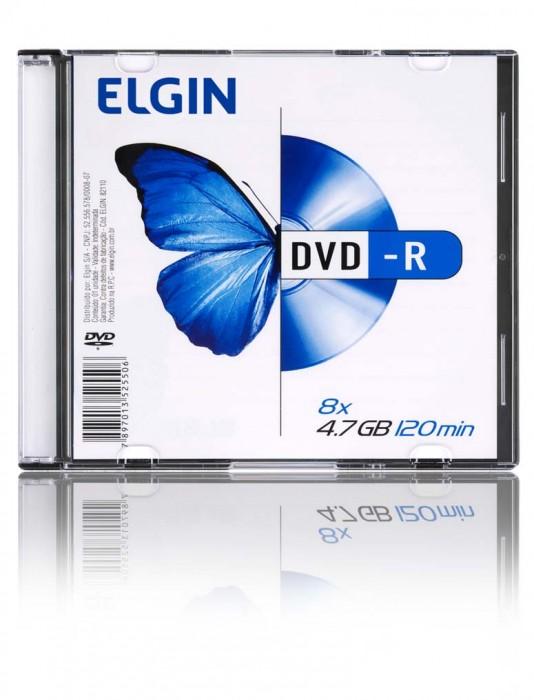 Mídia DVD-R Elgin 4.7gb/120 Min/8x (Slim Case)