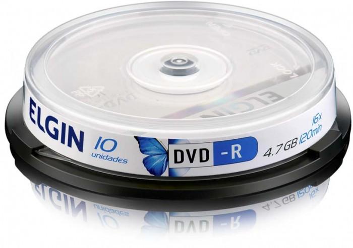 Mídia DVD-R Elgin 4.7 gb/120 Min/16x (Pino com 10 Unid)