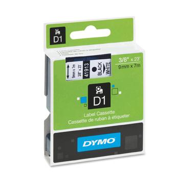Fita Poliéster Dymo Adesiva Rotulador Eletrônico 9mm x 7 Mts Preto/Branco 41913