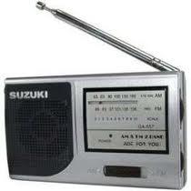 Rádio Suzuki SZ-557 AM/FM acompanha fone de ouvido