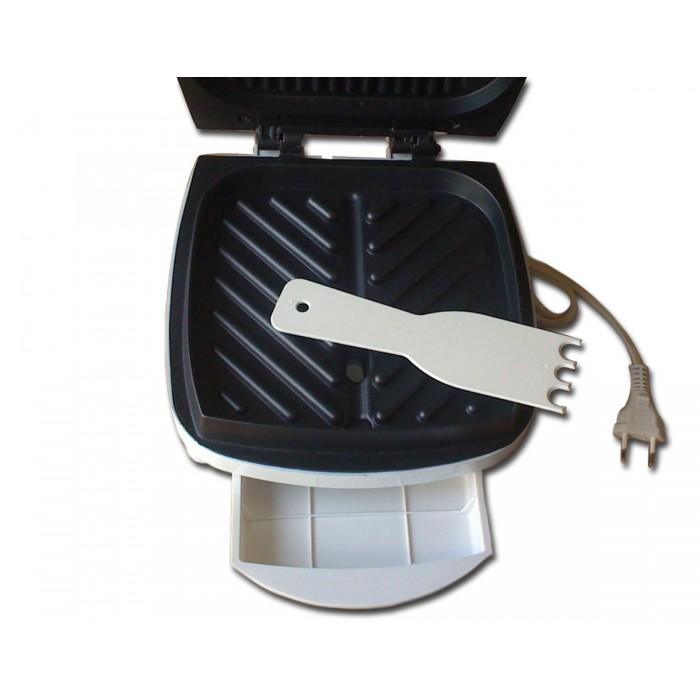 Grill Suzuki Sz-8015 Branco Placa Antiaderente Bandeja Coletora Gordura Espátula 700W 127v