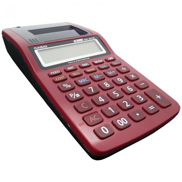 Calculadora Casio Hr8 Tmrd Original Visor Impressora 1,6 Linhas/Seg 12 Díg Vermelha