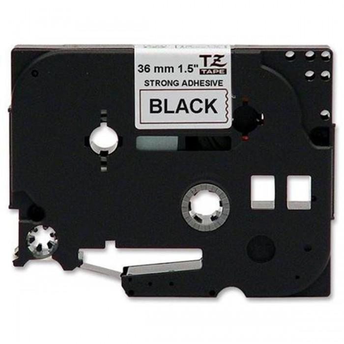 Fita p/ Rotuladora Brother TZS-261 - Largura: 36mm, Preto sobre Branco, Comprimento: 8m
