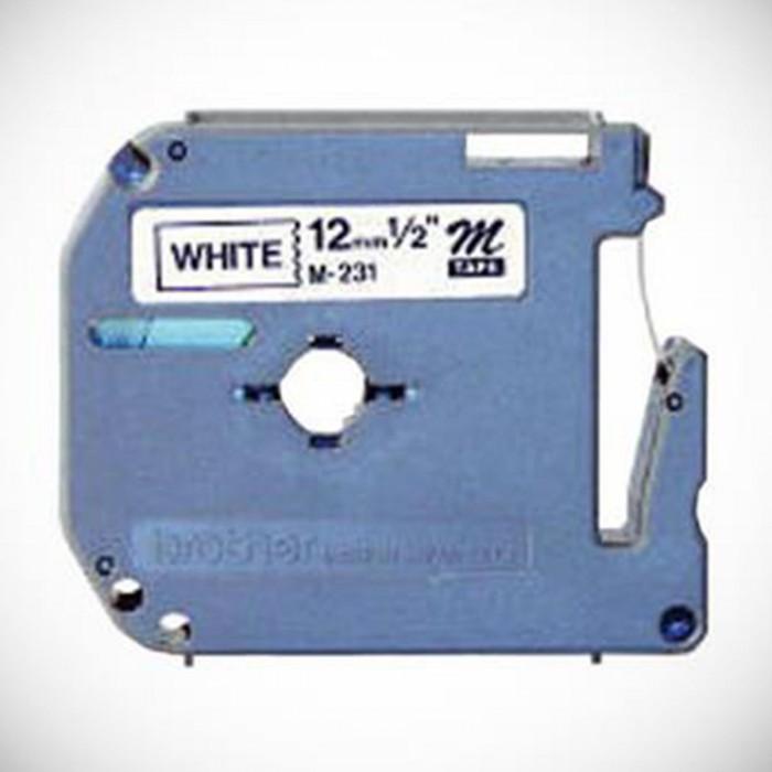 Fita Rotulador Pt Brother M231 Largura 12mm Comprimento 8mm Preto/Branco