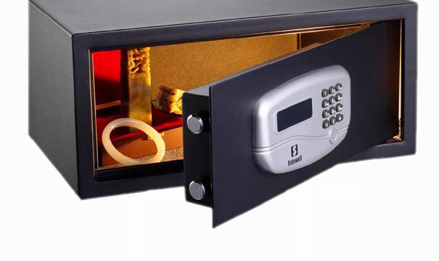 Cofre para Hotel Safewell 195 Ja Medidas Externas (AxLxP) 195x430x370mm Capac 25L 10Kg