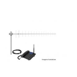 Kit Telefone Celular De Mesa Intelbras Cca 490 Gsm Quad-band