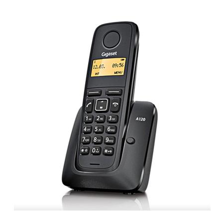 Telefone sem Fio Gigaset A120 com Ident. de Chamadas Preto