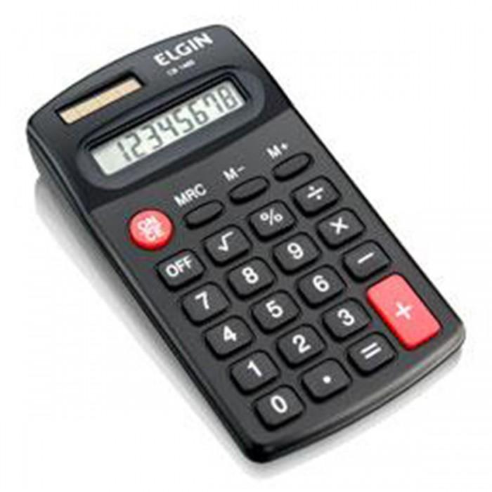 Calculadora de Bolso Elgin Cb 1485 com 8 Dígitos solar e pilha