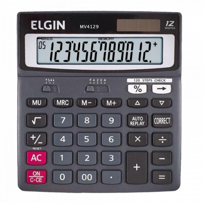 Calculadora de Mesa Elgin MV-4129 solar e bateria