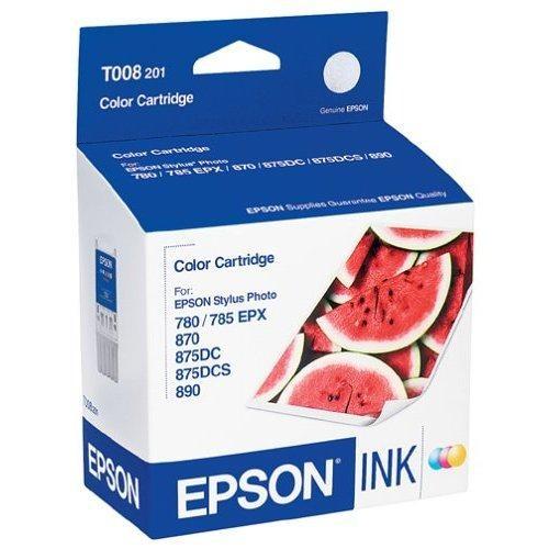Cartucho de Tinta Colorida Epson Original T008201-AL p/ SP 780 / 785EPX / 870 / 890 Blistado (Cod: 6366)