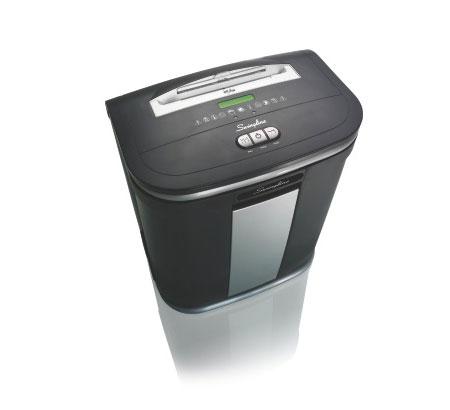Fragmentadora de Papel Swingline SM12-08 - Corta até 12 fls em Micro Partículas N5, CD/ DVD/ Cartão/ Clipes/ Grampos, Cesto: 30L, Fenda: 229mm, Funcionamento/ Repouso: 10min.