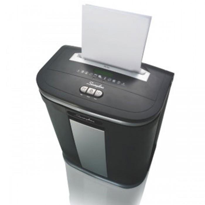 Fragmentadora de Papel Swingline SX16-08 - Corta até 16 fls em Partículas N3, CD/ DVD/ Cartão/ Clipes/ Grampos, Cesto: 30L, Fenda: 229mm, Funcionamento/ Repouso: 10min.