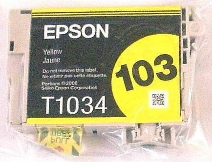 Cartucho Epson T1034 Amarelo Blister 1 unidade - Compatibilidade: T40W / TX550W /TX600FW