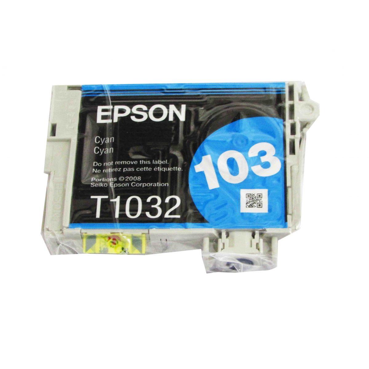 Cartucho de Tinta Ciano Durabrite Ultra Epson Blister Original T103220-BR p/ Stylus Office T40W / T1110 / TX515FN / TX550W / TX600FW (Cod: )