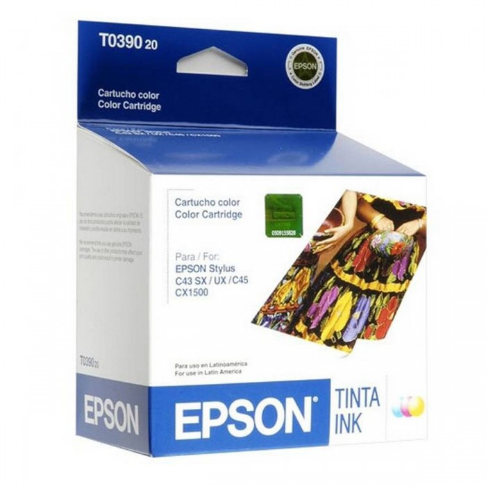 Cartucho de Tinta Colorida Epson Original T039020-AL p/ Stylus C43 UX / C43 SX / C45 (Cod: 6446)