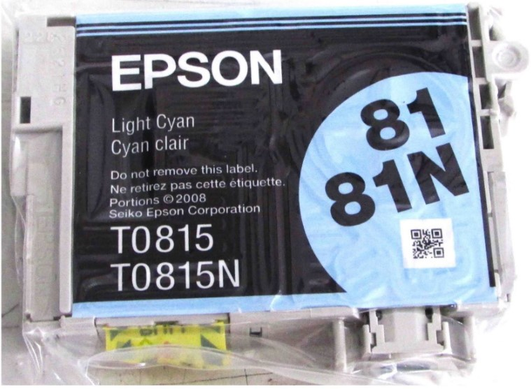 Cartucho de Tinta Cano Claro Hi-Definition Epson Original T081520-AL p/ Stylus Photo R270 / R290 / T50 / TX720WD / SP1410 (Cod: 6496)