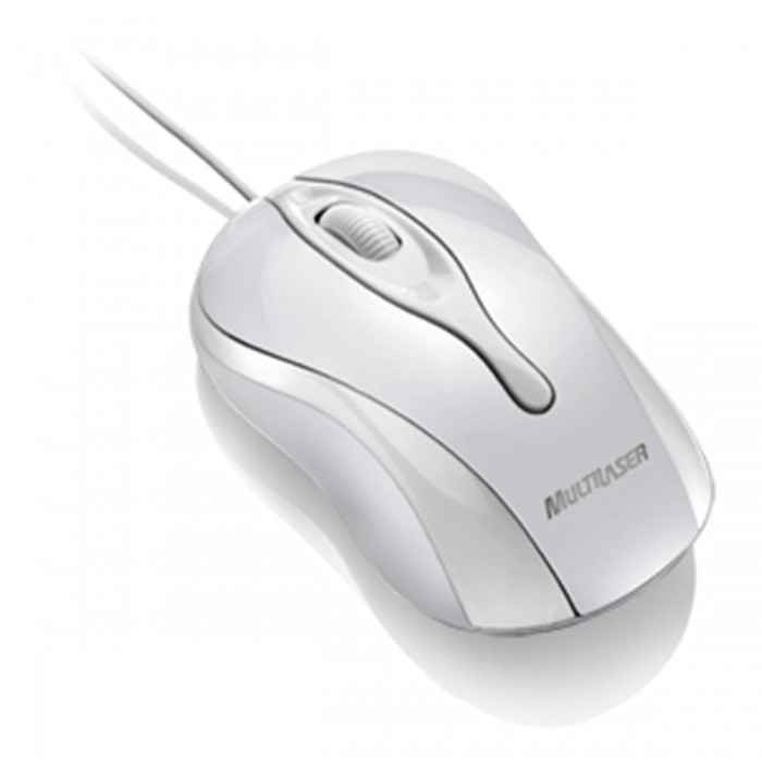 Mouse Colors USB Multilaser MO140 - Branco