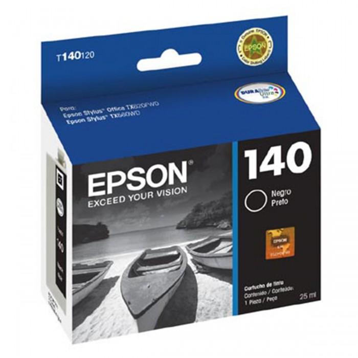 Cartucho de Tinta Preta T140120-BR Epson Durabrite Ultra p/ Stylus Office T42WD / TX560WD / TX620WD Original