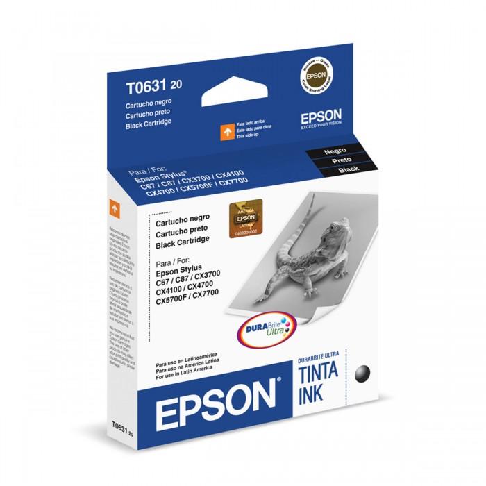 Cartucho de Tinta Preta Epson Original T063120-BR p/ Stylus C67 / C87 / CX3700 / CX4100 /CX4700 / CX7700 (Cod: )