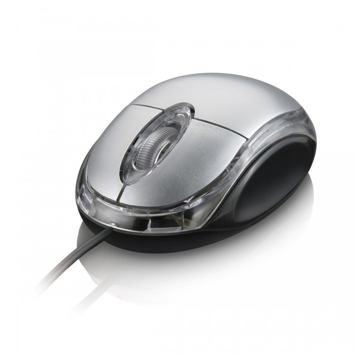 Mouse Multilaser Óptico Classic USB Prata MO006