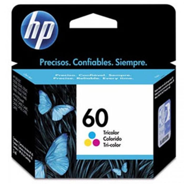 Cartucho de Tinta HP 60 Colorido Original CC643WL - p/ HP Deskjet  D1660, D2530, D2545, D2560, D2660, D2680, D5560, F2430, F2480, F4210, F4235, F4240, F4280, F4435, F4440, F4480, F4580