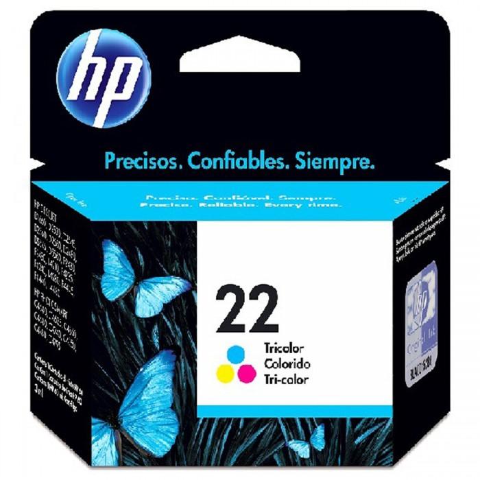 Cartucho de Tinta HP 22 Colorido Original C9352AL